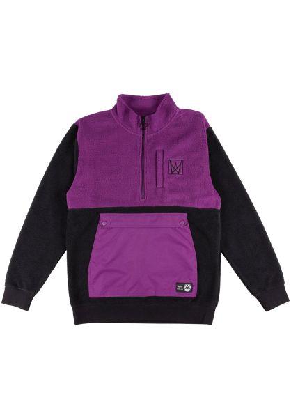 Welcome Sweatshirts und Pullover Icon Half-Zip Sherpa Fleece black-purple vorderansicht 0422847