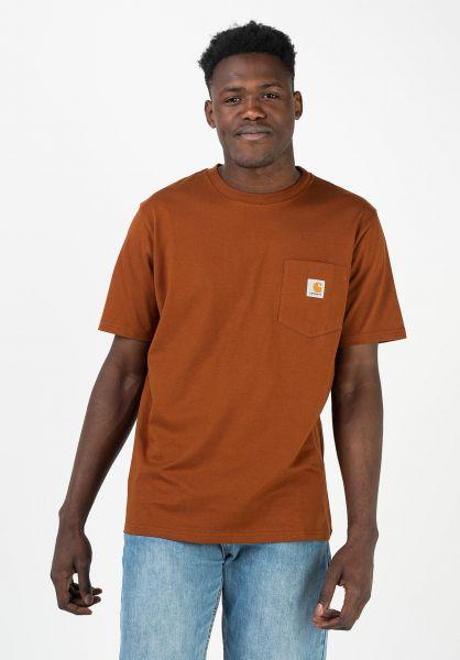 Carhartt WIP T-Shirts Pocket brandy vorderansicht 0393365