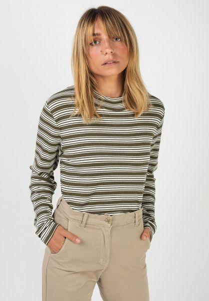 TITUS Longsleeves Shanti olive-striped vorderansicht 0383546