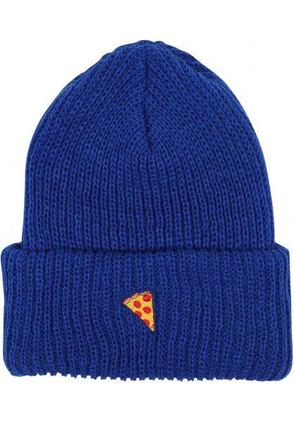 Pizza Skateboards Mützen Emoji blue vorderansicht 0572375