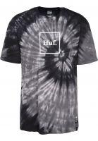 HUF T-Shirts Box Logo Tie-Dye black Vorderansicht