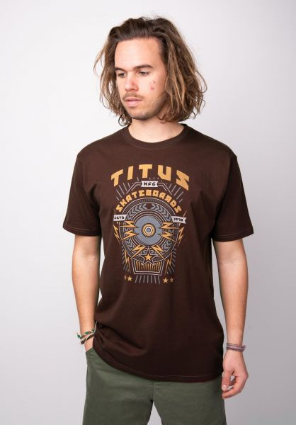 TITUS T-Shirts Skate Wheel deepburgundy vorderansicht 0398400