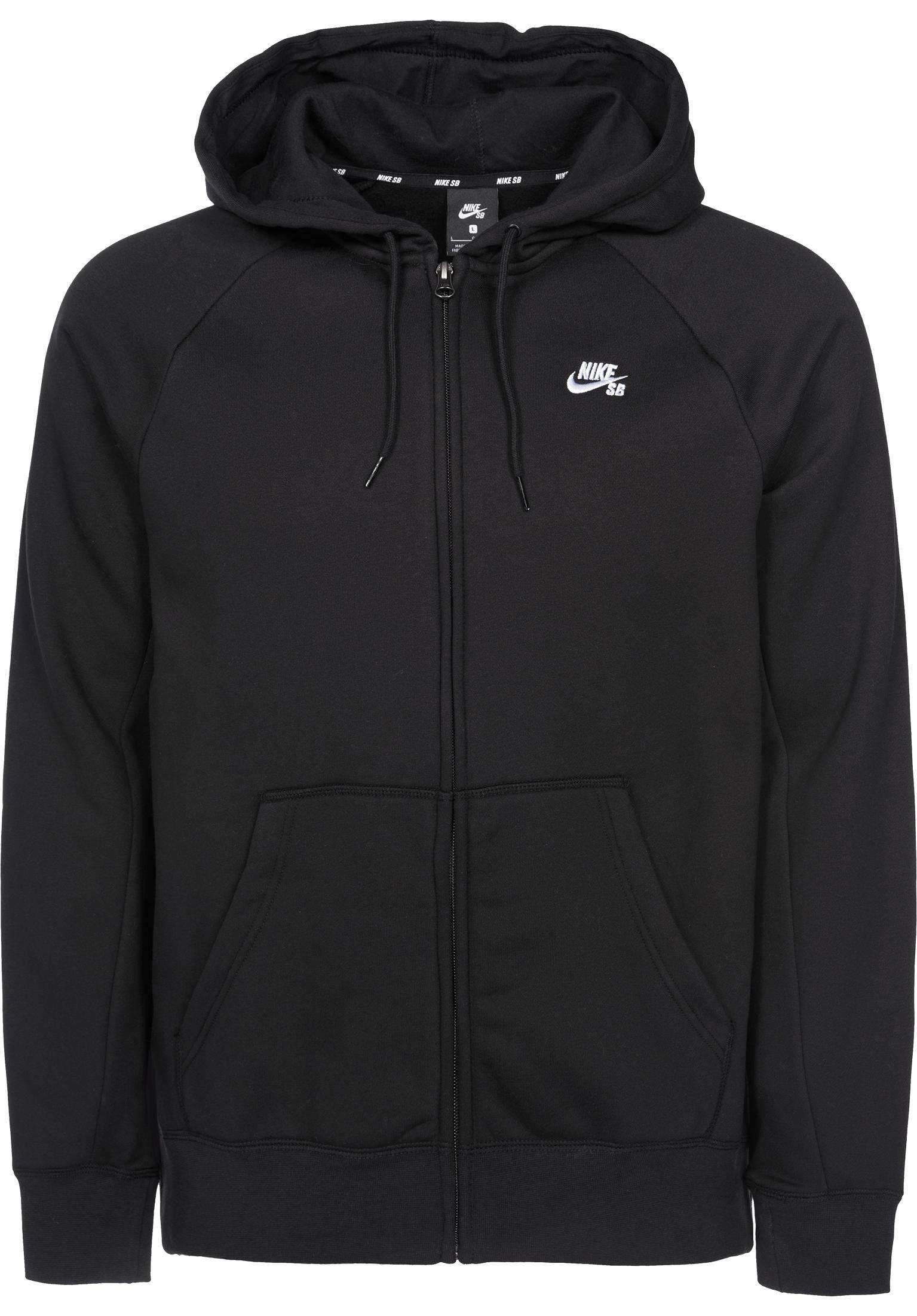 1be145bbe351 SB Icon Full Zip Nike SB Zip Hoodies in black-white for Men