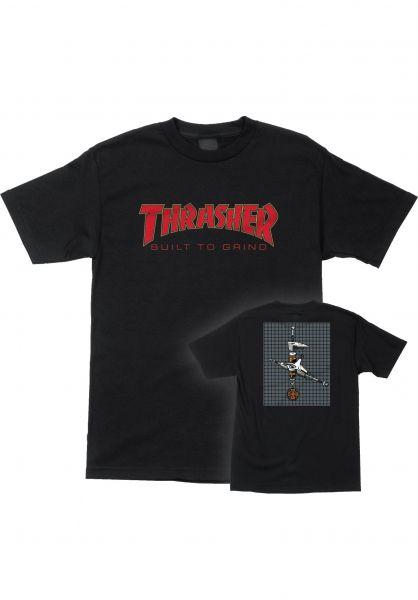 Independent T-Shirts Thrasher BTG S/S black vorderansicht 0399022