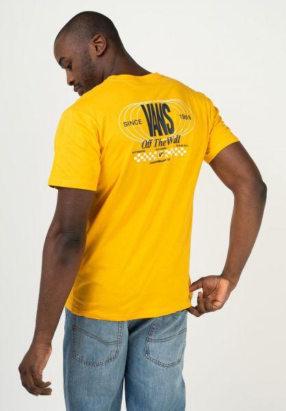 Vans T-Shirts Frequency saffron vorderansicht 0323467