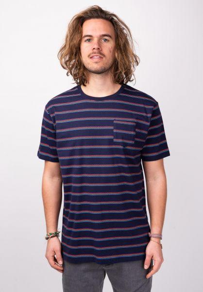TITUS T-Shirts Holan Pocket multi-striped vorderansicht 0398345