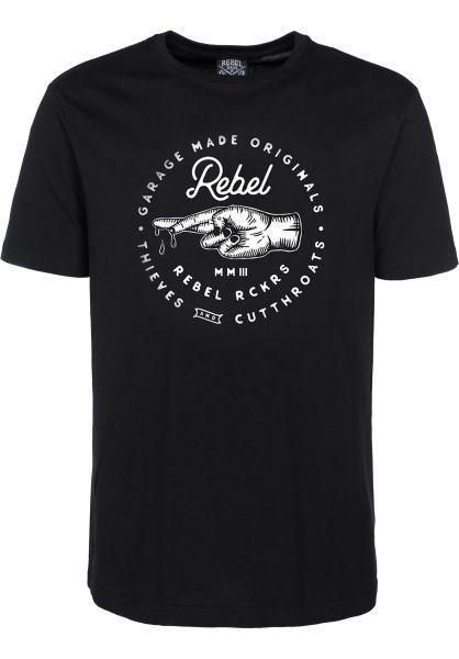 Rebel Rockers T-Shirts TnC black Vorderansicht 0396534