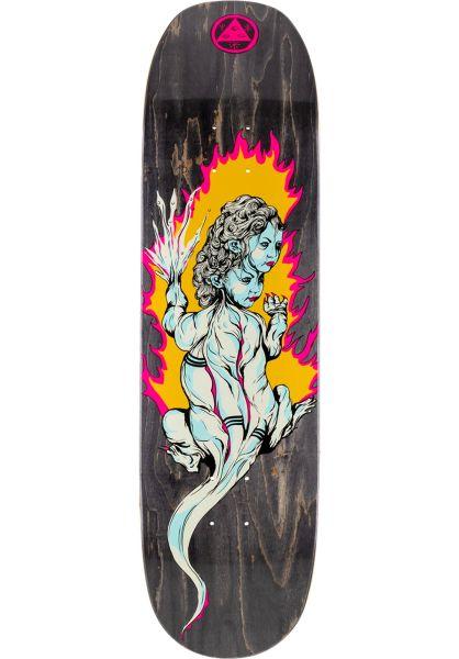 Welcome Skateboard Decks Komodo Queen Moontrimmer 2.0 black stain vorderansicht 0266111
