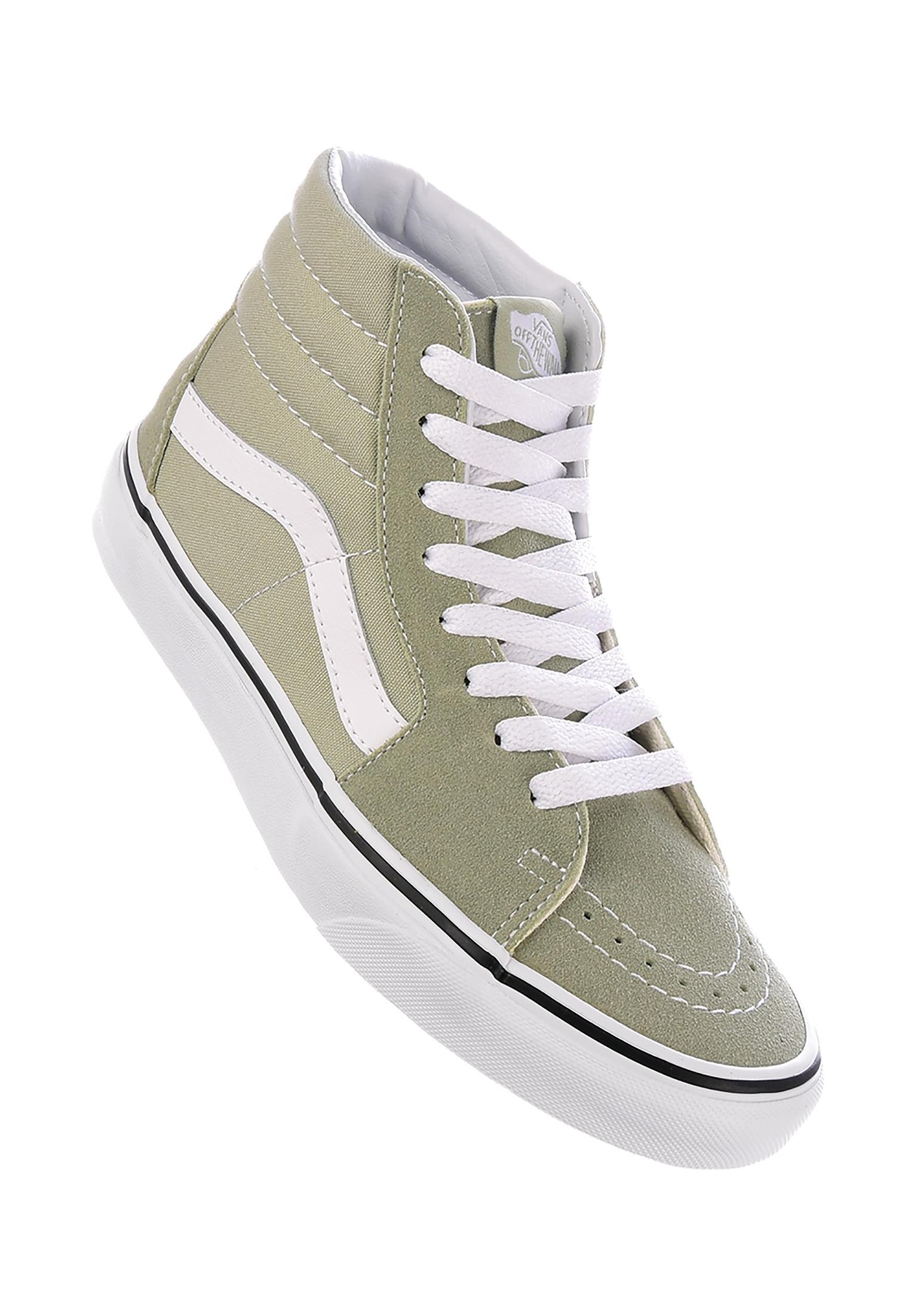 online retailer 965ff e2adb Sk8-Hi Vans All Shoes in desertsage-truewhite for Women  Tit