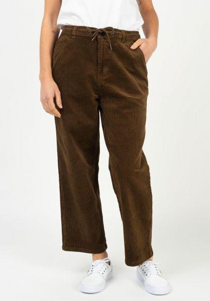 Reell Chinos und Stoffhosen Reflex Women Loose Chino browncord vorderansicht 0204170