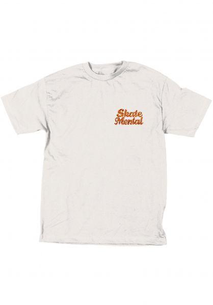 Skate-Mental T-Shirts Pizza Dog white Vorderansicht