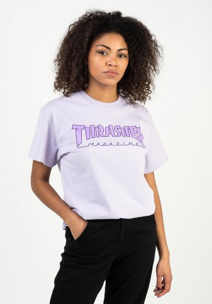 Thrasher T-Shirts Outlined UNISEX orchid vorderansicht 0323077