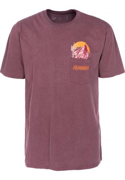 Neff T-Shirts Peak Pocket maroon vorderansicht 0399424