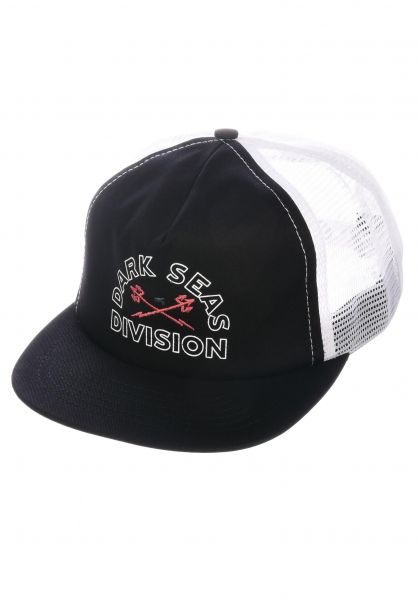 Dark Seas Caps Hidalgo black-white vorderansicht 0566111