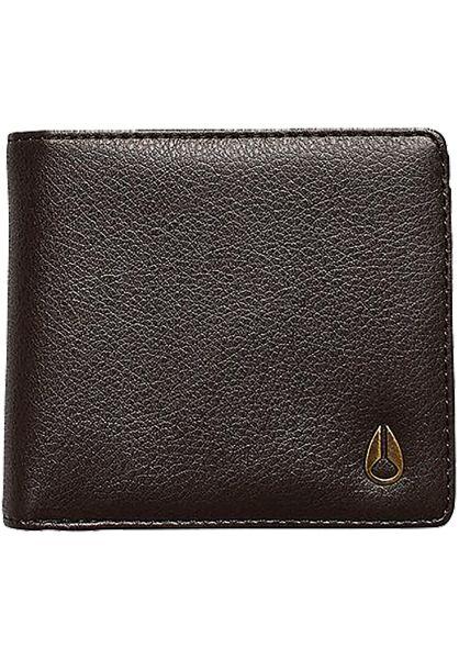 Nixon Portemonnaie Cape Vegan Leather Coin brown vorderansicht 0781019