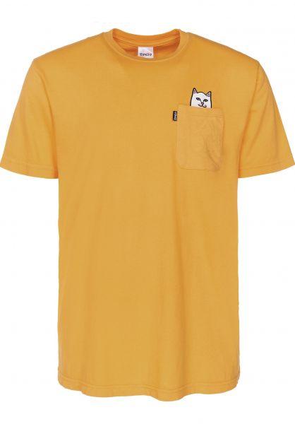 Rip N Dip T-Shirts Lord Nermal Pocket gold vorderansicht 0393476
