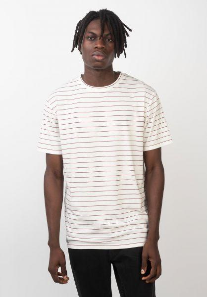 TITUS T-Shirts Alfred offwhite-red vorderansicht 0396711