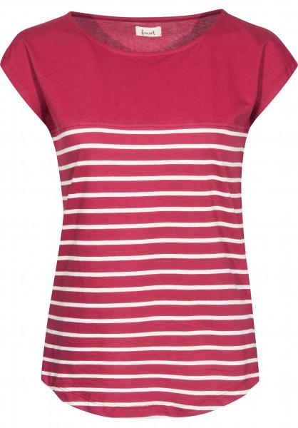 Forvert T-Shirts Newport red-beige Vorderansicht