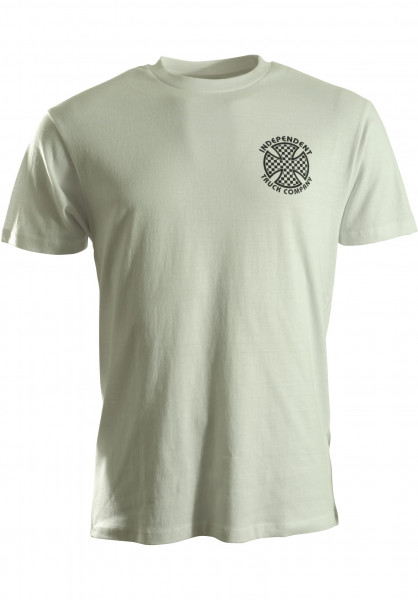 Independent T-Shirts Cross Check white Vorderansicht