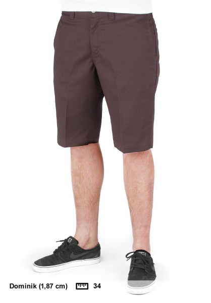 Dickies Chinoshorts 11'' Industrial Work Short chocolatebrown Vorderansicht