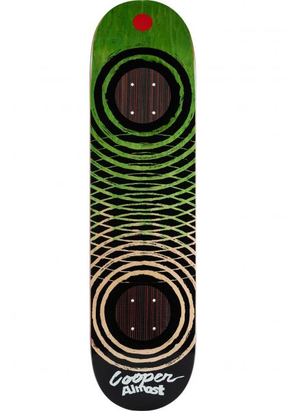 Almost Skateboard Decks Cooper Dip Dyed Rings Impact green vorderansicht 0261610