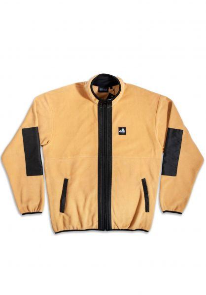 Goodbois Übergangsjacken Outdoor Sports Fleece Full Zip Jacket sand vorderansicht 0504540