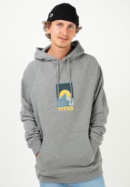 TITUS Hoodies Rockies greymottled vorderansicht 0422819