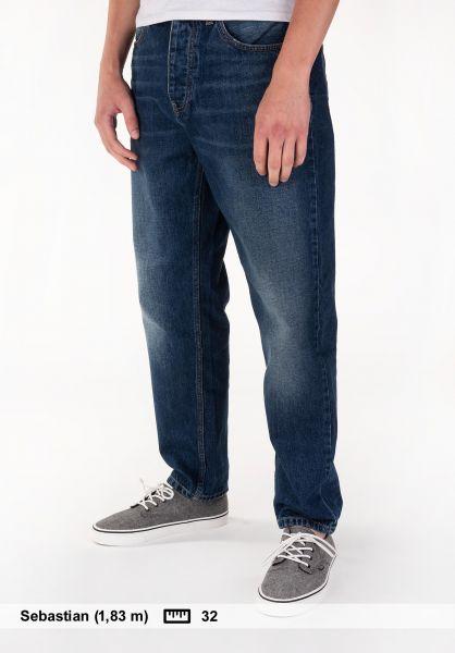 Carhartt WIP Jeans Newel Pant (Milton) blue-darkshorewashed Vorderansicht 0227155