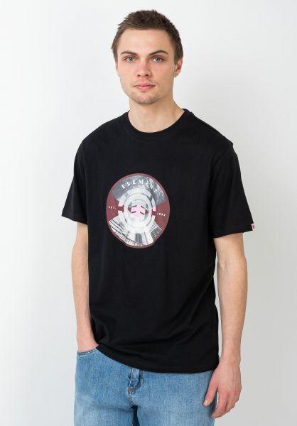 Element T-Shirts Aiken flintblack vorderansicht 0321664