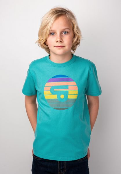 TITUS T-Shirts Sunset Logo Kids mint-green vorderansicht 0398389