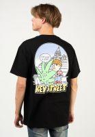 key-street-t-shirts-just-a-leaf-black-vorderansicht-0324089