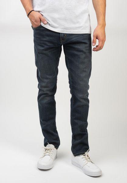 Carhartt WIP Jeans Rebel Pant bluedarkwornwash vorderansicht 0269055