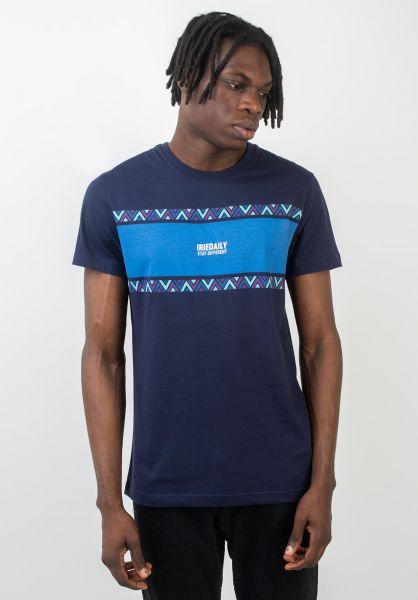 iriedaily T-Shirts Monte Noe navy vorderansicht 0320402