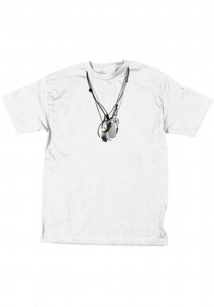 3D T-Shirts Brian's Necklaces white Vorderansicht