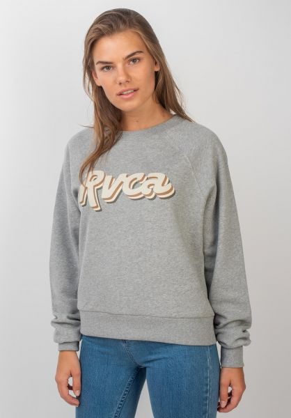 RVCA Sweatshirts und Pullover Slacker athleticheather vorderansicht 0422701
