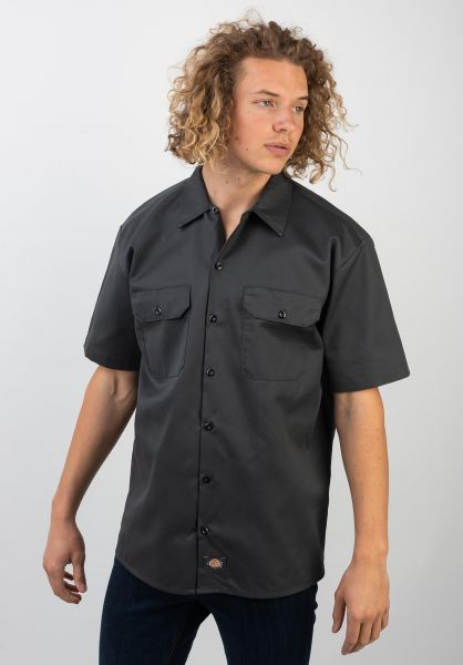 Dickies Hemden kurzarm Short Sleeve Work-Shirt charcoal vorderansicht 0049804