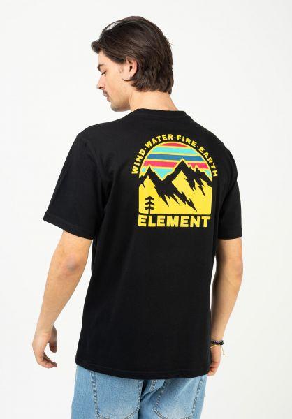 Element T-Shirts Foxwood flintblack vorderansicht 0323365