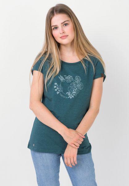 Ragwear T-Shirts Florah A petrol 320 vorderansicht 0322287