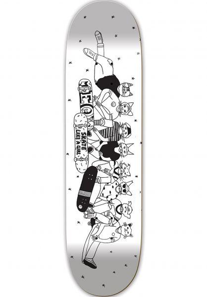 Meow Skateboards Skateboard Decks Meow x Skate Like a Girl white Vorderansicht