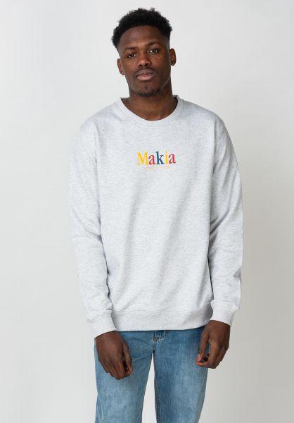 Makia Sweatshirts und Pullover Strait lightgrey vorderansicht 0422875