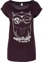 iriedaily T-Shirts Skateowl 2 aubergine Vorderansicht