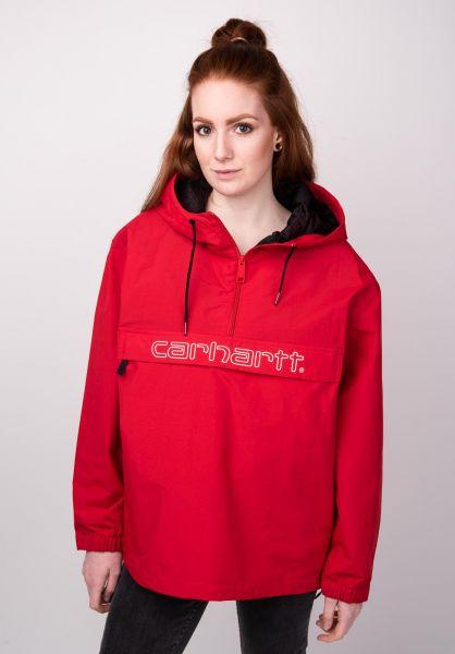 Carhartt WIP Übergangsjacken W' Carhartt Script Pullover cardinal-white vorderansicht 0504320
