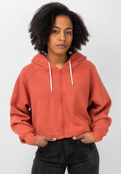 TITUS Zip-Hoodies Alice orange-washed vorderansicht 0445309