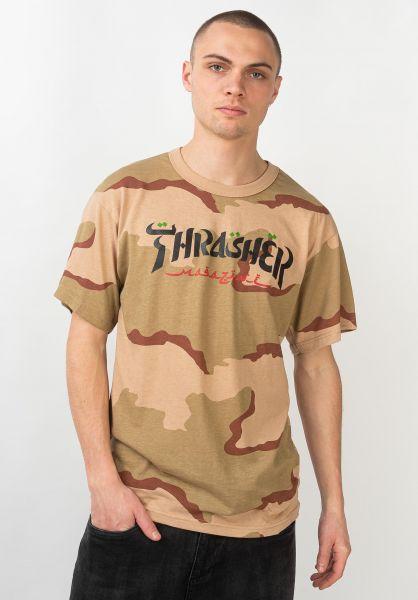 Thrasher T-Shirts Calligraphy desertcamo vorderansicht 0320808