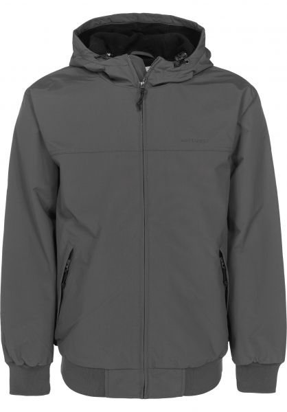 Carhartt WIP Winterjacken Hooded Sail Jacket blacksmith-black Vorderansicht