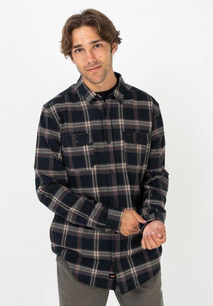 Globe Hemden langarm Flannigan hazel vorderansicht 0412070