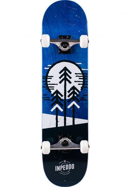 Inpeddo Skateboard komplett Forest blue vorderansicht 0161921