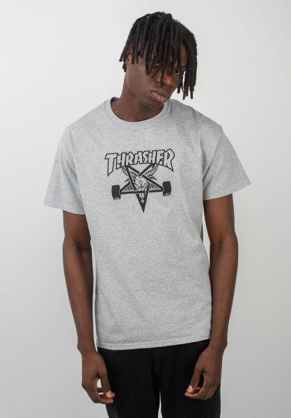 Thrasher T-Shirts Skate Goat greymottled vorderansicht 0037028