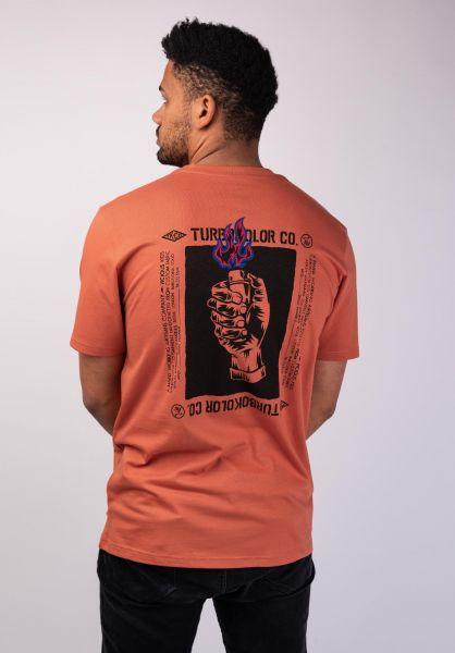 Turbokolor T-Shirts Light My Fire orange vorderansicht 0320190