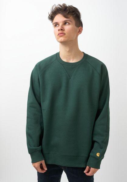 Carhartt WIP Sweatshirts und Pullover Chase treehouse-gold vorderansicht 0420832
